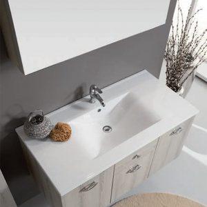 Mobile bagno 100 cm rovere grigio